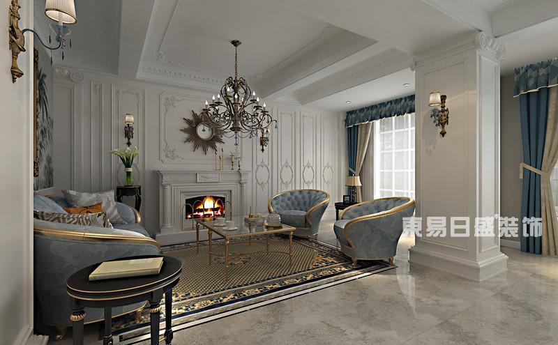 别墅装修法式风格_客厅