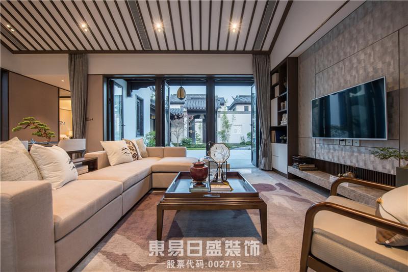 临沂装修设计新中式风格-客厅