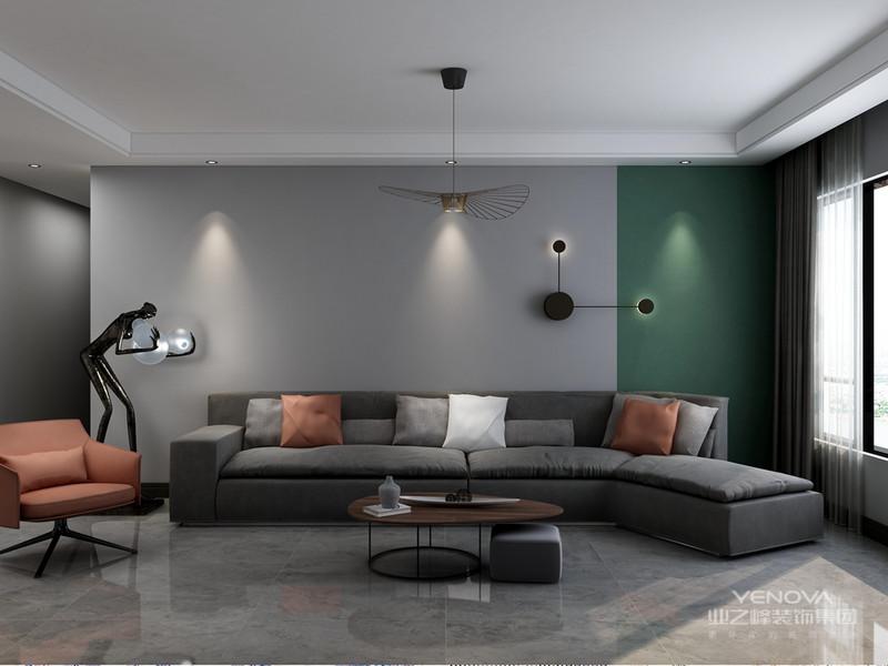 现代设计追求的是空间的实用性和灵活性。居室空间是根据相互间的功能关系组合而成的,而且功能空间相互渗透,空间的利用率达到最高。空间组织不再是以房间组合为主,空间的划分也不再局限于硬质墙体,而是更注重会客、餐饮、学习、睡眠等功能空间的逻辑关系。