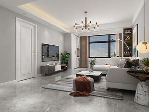 115平米现代三居室装修效果图