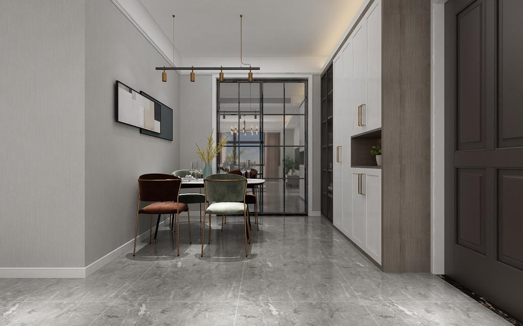餐厅是就餐环境的营造, 实际风格要与整个居室风格一致协调;色彩作为装饰手段,墙面色彩因能改变居室的外观与格调而受到重视,色彩不占用居室空间,不受空间结构的限制,运用方便灵活,最能体现居住者的个性和品位。