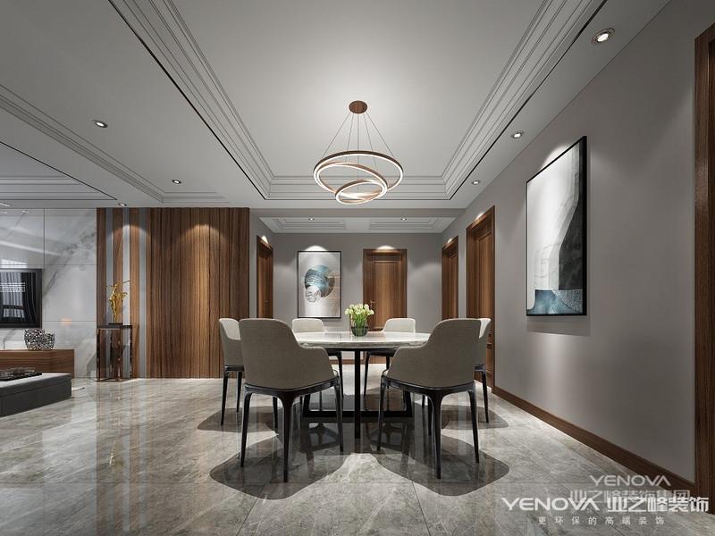 餐厅采用简洁的设计风格,简单极致就是一种奢华