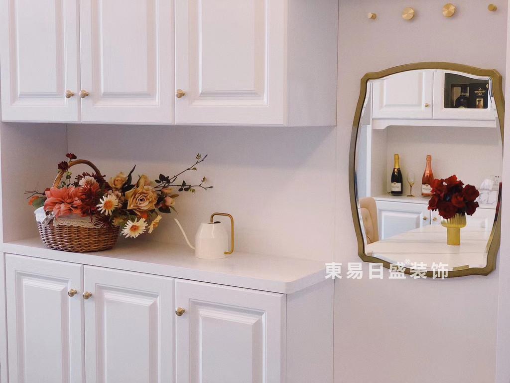 桂林玉柴•博望园两房两厅90㎡北欧风格:厨房装修设计实景图(橱柜)