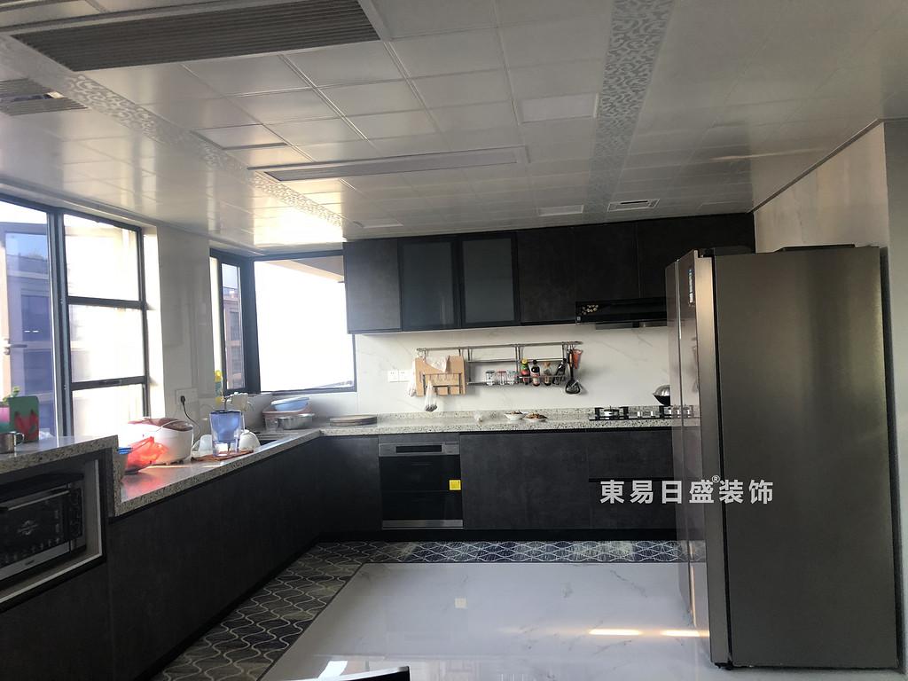桂林安廈漓江大美頂層復式樓180㎡新中式風格:廚房裝修設計實景圖