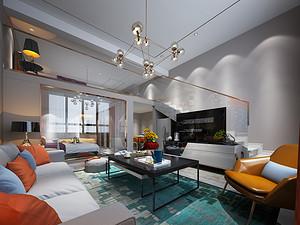 银泰公寓-66㎡-现代风格