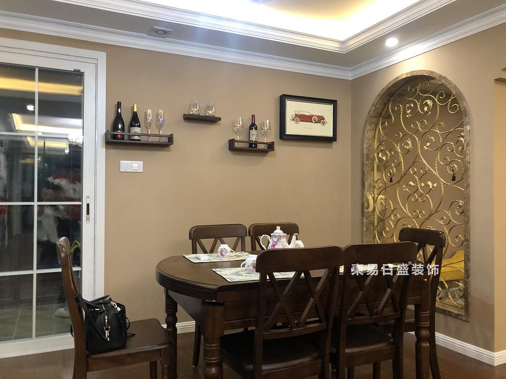 桂林彰泰?花千樹四居室140㎡美式風格:餐廳裝修設計實景圖
