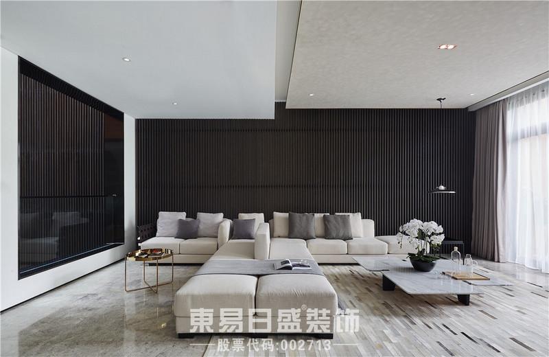 别墅装修设计台式风格-客厅