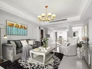 玉门河花园140㎡美式轻奢公寓,背景墙都好看爆了~