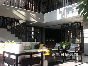 桂林安廈漓江大美頂層復式樓180㎡新中式裝修風格實景圖