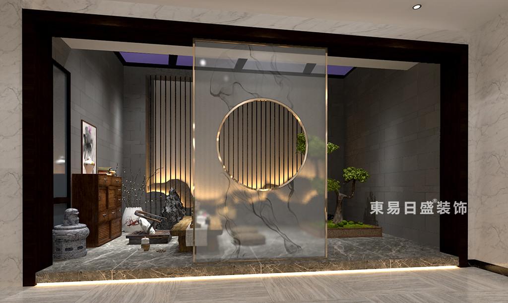 桂林广源•栖山墅别墅580㎡新中式风格:茶室装修设计效果图