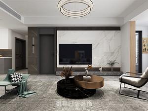 觀瀾府-140平米三居室-現代風格效果案例