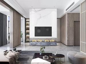 现代风格客厅西甲买球盘口效果图