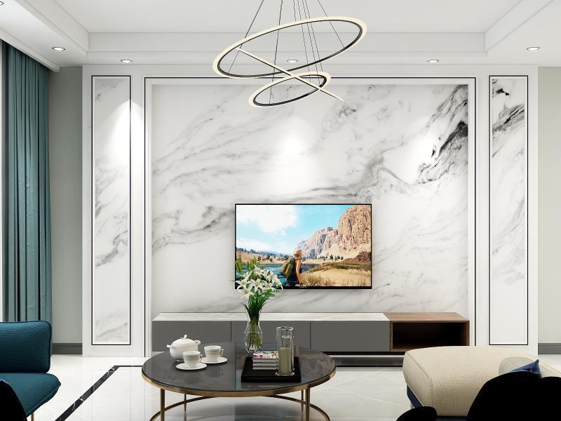 客厅以灰、白色为主调,奠定了客厅纯净优雅的格调。