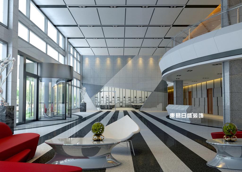 桂林工装_办公楼装修_大体休闲区装修设计效果图