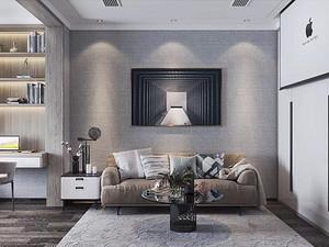 现代风格休闲室西甲买球盘口效果图
