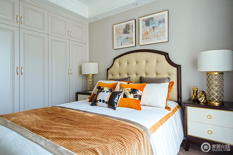 主卧清新典雅,客卧细腻精致,从床屏、窗帘到薄毯、台灯,每一处都是精心搭配,相映成趣。