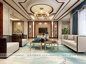 中建城中壹号公馆340平新中式风格