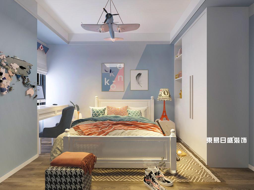 桂林信昌•棠棣之华四居室141㎡现代简约风格:主卧室装修设计效果图