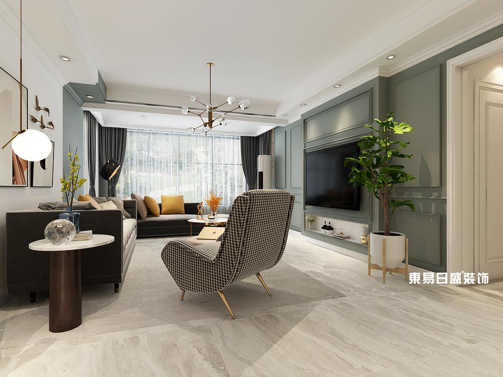 桂林信昌•棠棣之华四居室141㎡现代简约风格:客厅装修设计效果图