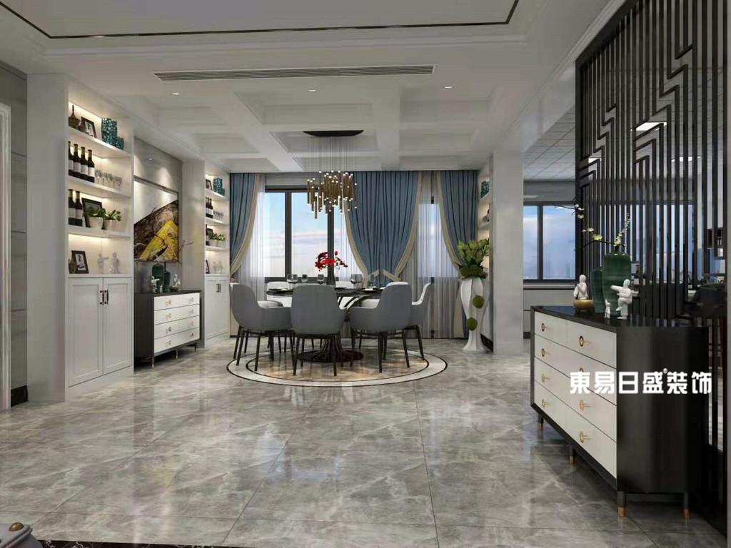 桂林市自建别墅500㎡现代简约风格:餐厅装修设计效果图