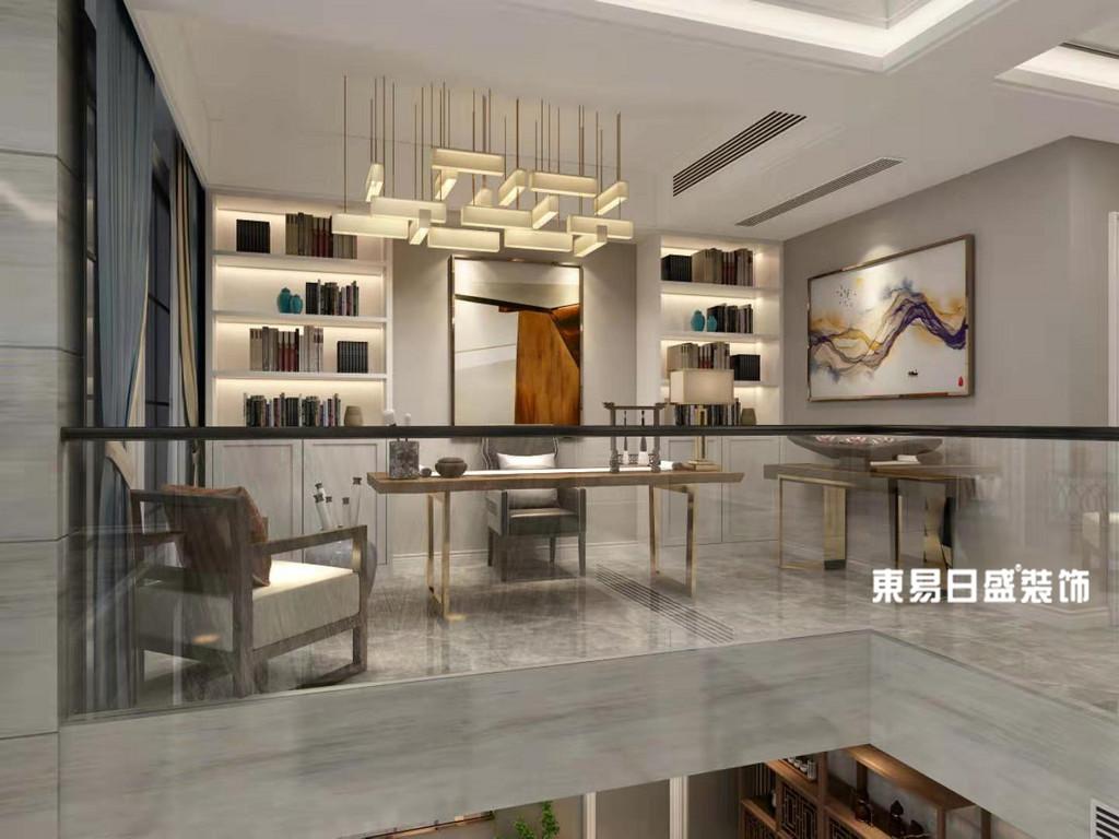 桂林市自建别墅500㎡现代简约风格:书房装修设计效果图