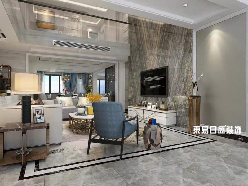 桂林市自建別墅500㎡現代簡約風格:客廳裝修設計效果圖