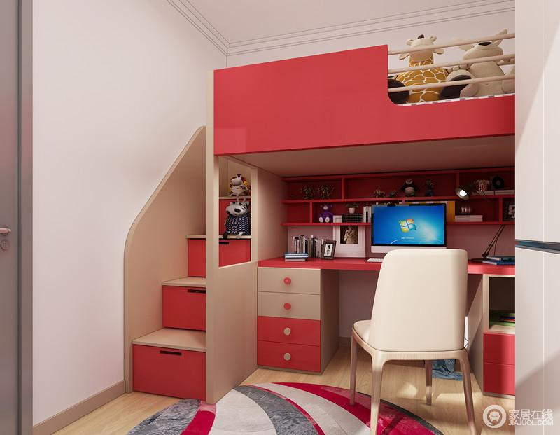 床下是孩子专属的学习活动区,私密的空间更能有效的形成良好的学习习惯。