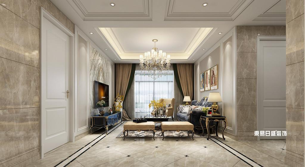 桂林市自建别墅700㎡混搭风格:客厅装修设计效果图