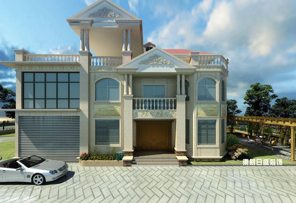 桂林市自建别墅700㎡混搭风格:外墙装修设计效果图