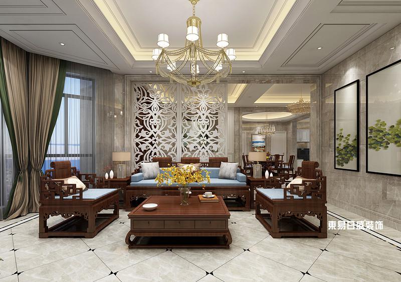 桂林市自建别墅700㎡混搭风格:客厅背景墙装修设计效果图