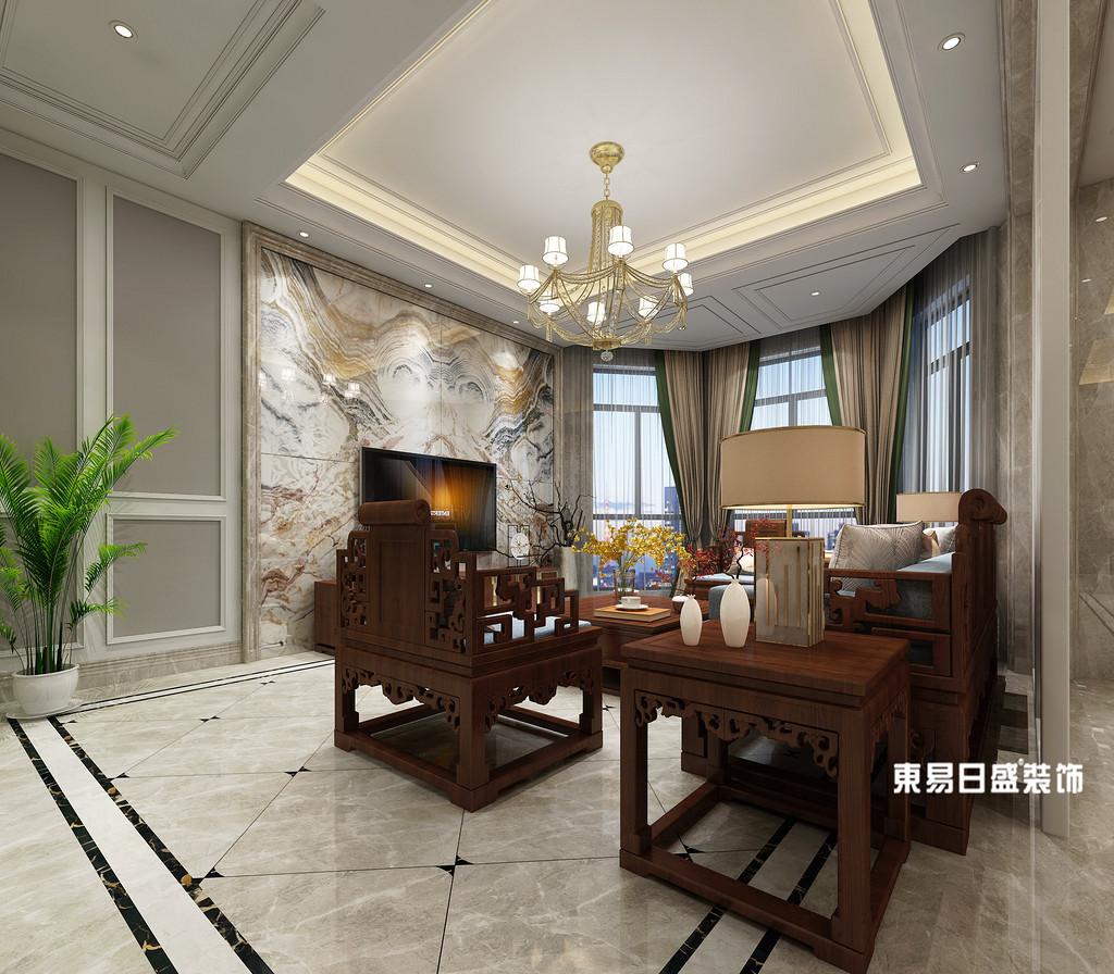 桂林市自建别墅700㎡混搭风格:客厅灯饰装修设计效果图