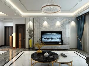 太原天鹅堡三居室 195㎡ 现代轻奢风格