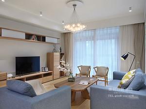 臨沂裝修三室兩廳保利香檳國際裝修效果圖_北歐風格