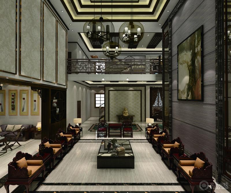 客餐厅的定位通常展现的是业主的身份与地位,庄重优雅的色调展示了业主多年历练的积累