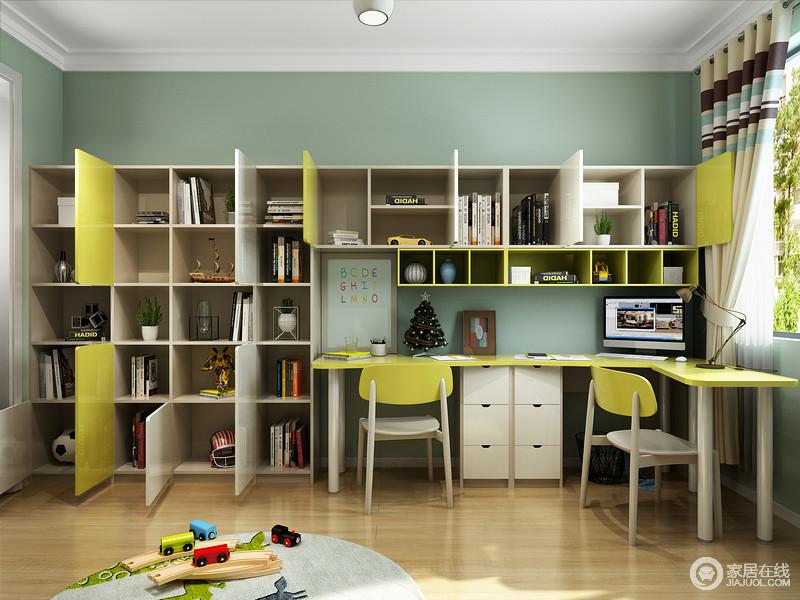 超强全屋定制得多功能家具告别单一角色,不仅是书柜,更是孩子学习区的一部分,再加上整体柜式的设计,让生活更为贴心。
