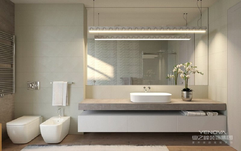 卫生间以简约为主体。