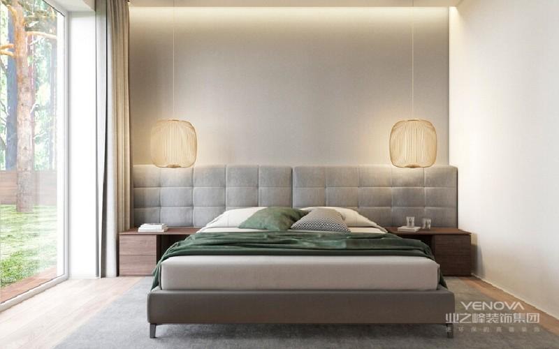 卧室充满时尚感。