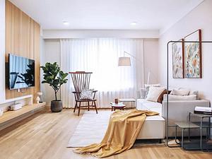 107㎡北歐格調2室2廳,打造輕盈優雅的氣質美居