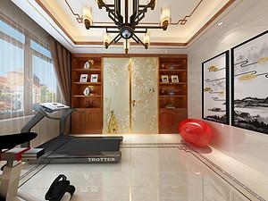 新中式风格健身房贝博官网登录效果图