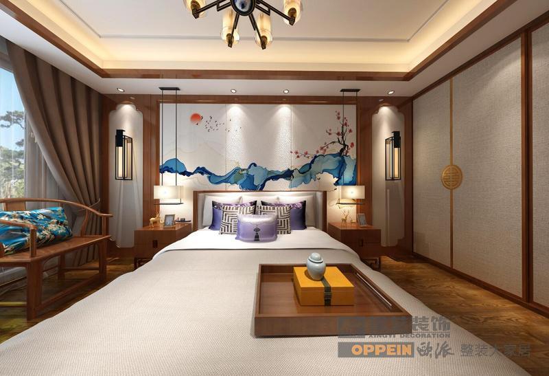 山和院子-新中式风格-负一层卧室
