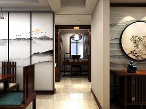 新中式风格门厅贝博官网登录效果图
