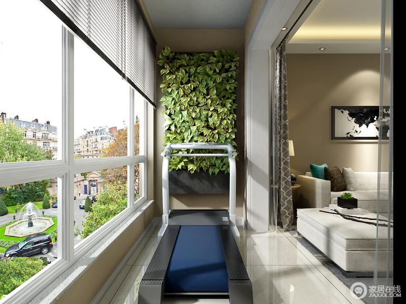 对于热爱健身喜欢运动的业主来说,宽敞明亮的客厅阳台是一个非常适合健身运动的地方,摆上一台跑步机或者其他健身器材。让家庭健身变得更加简单方便。