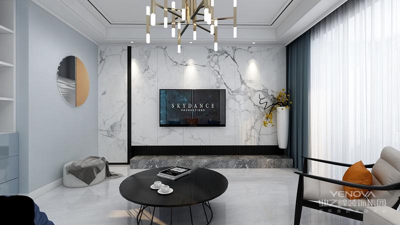 业主是一对年轻夫妻,性格开朗,偏爱明快自由,且适合自己的居家空间,所以,白色调为主的客厅给人一种简单和宁静。