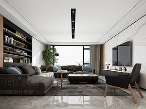 凤凰汇紫园304m²复式现代简约风格