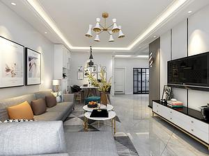 雅园二期三居室 117㎡ 现代美式风格
