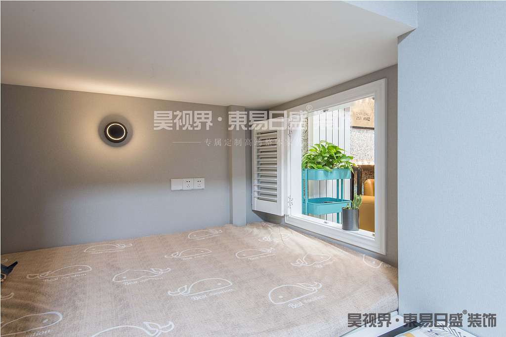 一层卧室可封闭,可开放。增加的房间的隐私性的同时,保证了换气的舒适性。