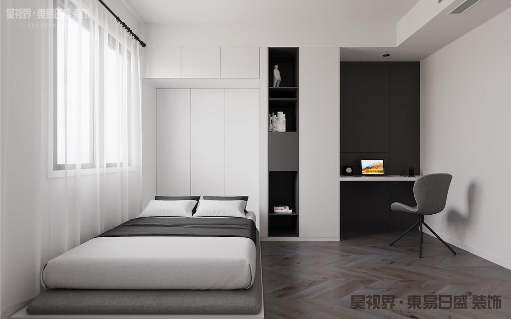 用了极少的色彩来装饰,会让房间更加让人心静。不必在杂物上消耗时间,才是真正的幸福。