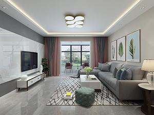 塞纳阳光三居室 140㎡ 现代简约风格