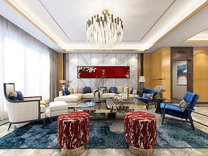 韵·染光年三居室 145㎡ 新中式风格