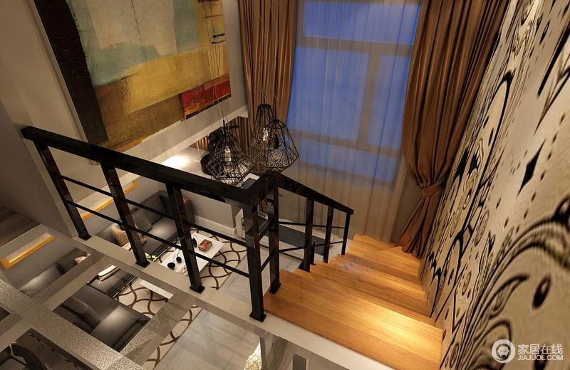室内墙面、地面、顶棚以及家具陈设乃至灯具器皿等均以简洁的造型展示出立体感。